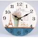 Fa fali óra, Paris levendulával, 34cm átmérő