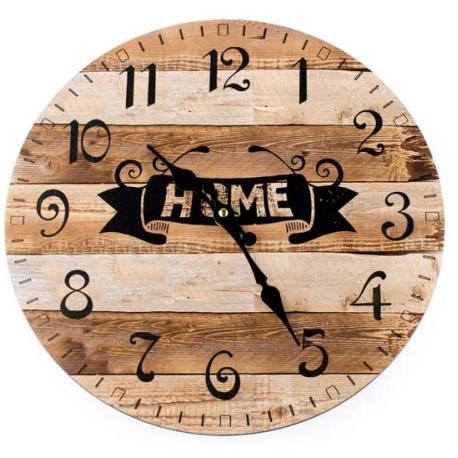 Fa fali óra, Home, fa léces, 34cm átmérő