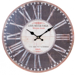 Fa fali óra, Love never fails, 34cm átmérő