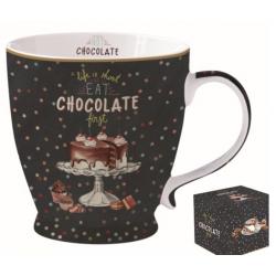 Porcelán bögre 400ml, díszdobozban, Hot Chocolate