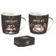 Porcelán bögreszett 2db-os dobozban, 350ml, Hot Chocolate