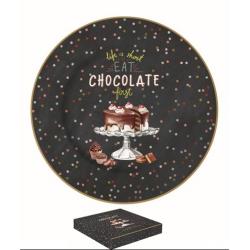 Porcelán desszerttányér 19cm, dobozban, Hot Chocolate