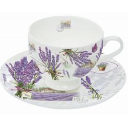 Porcelán presszóscsésze aljjal 75ml 2 személyes,dobozban, Bouquet de Lavande