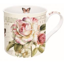 Porcelán bögre dobozban 350ml, Marche Aux Fleurs