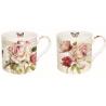 Porcelán bögre 2 db-os, dobozban 350ml, Marche Aux Fleurs