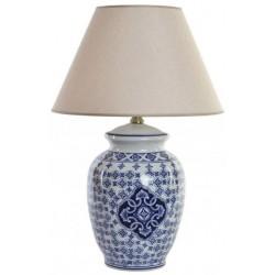 Porcelán Asztali lámpa, 40X40X60 cm, Kék, keleti