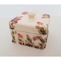 Kerámia doboz, szögletes - Vanilia Kerámia / Tele Pipacsos