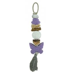 Szappanfonat illatosító pillangós, lila, 40-42cm, Levendulás