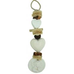Szappanfonat illatosító angyalos, fehér, 40-42cm, Gyapotvirág