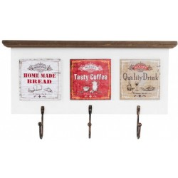 Fa fali akasztó, 41X8X24 cm, Vintage