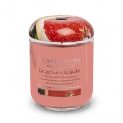 Nagy Üveggyertya Heart&Home - Grapefruit és Ribiszke