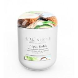 Nagy Üveggyertya Heart&Home - Trópusi Emlék