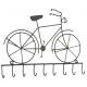 Fém kulcstartó fogas, bicikli 32x23cm