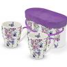 Porcelán bögre 0,35l, dobozban, 2db-os, Butterfly Splash