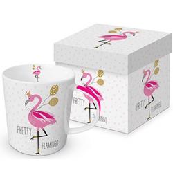 Porcelán bögre dobozban 0,35l, Pretty Flamingo