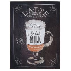 "Fa fali kép "" Latte"" felirattal, 30x40cm"