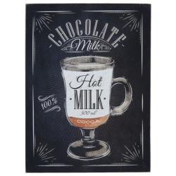 "Fa fali kép "" Chocolate Milk"" felirattal, 30x40cm"