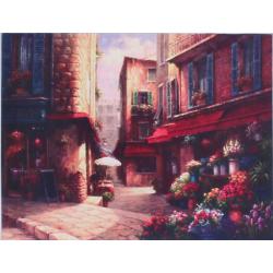 Vászon kép virágboltos utcarészlettel 35x45cm