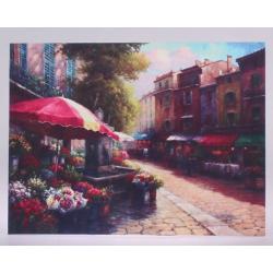 Vászon kép mediterrán utcarészlettel 35x45cm