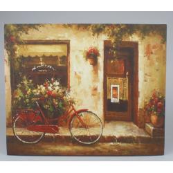 Vászon kép biciklis, kirakattal 56x46cm