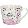 Porcelán bögre 450ml / Flamingós pöttyös