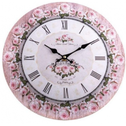 Fa Falióra - Rózsaszín szegélyes Rózsás - 34cm