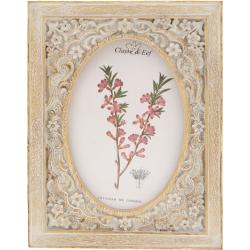 Képkeret müanyag 15x20cm/10x15cm, natúr színű, virágos