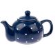 Kerámia teáskanna pöttyös, 1000ml, kék
