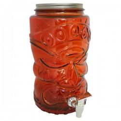 Limonádés üveg, csatos tetővel 6 literes - piros