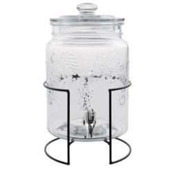 Limonádés csapos üveg fém állványon 5 literes
