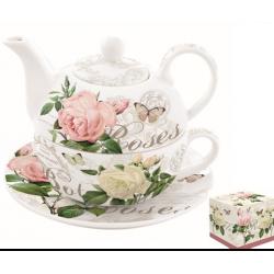 Porcelán egyszemélyes teáskészlet 350ml+350ml
