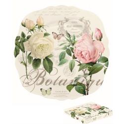 Porcelán desszerttányér 20cm, díszdobozban, Jardin Botanique