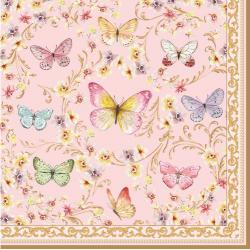 Papírszalvéta 20db-os, 33x33cm, Varázslatos Pillangók