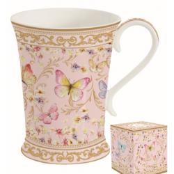 Porcelán bögre, 270ml, Varázslatos Pillangók