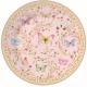 Porcelán desszerttányér 19cm, Varászlatos Pillangók