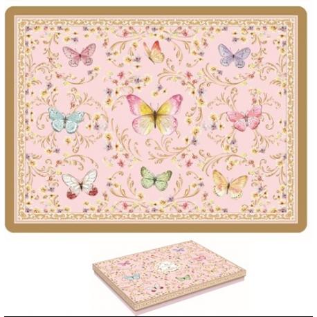 Parafa tányéralátét 4db-os 40x30cm, Varázslatos Pillangók