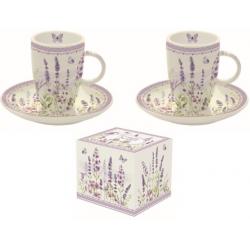 Porcelán eszpresszó csésze+alj, 2 szem.50ml