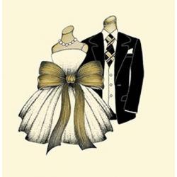 Papírszalvéta 20db-os, 33x33cm, Esküvős