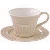 Porcelán csésze+alj 250ml, Abitare Chic Beige