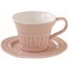 Porcelán presszóscsésze+alj 120ml, Abitare Chic - Halvány Rózsaszín
