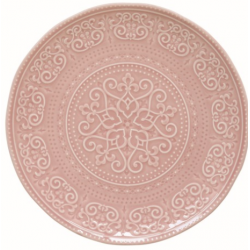 Porcelán lapostányér 26,5cm, Abitare Chic - Halvány Rózsaszín