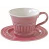 Porcelán presszóscsésze+alj 120ml, Abitare Chic - Sötét Rózsaszín