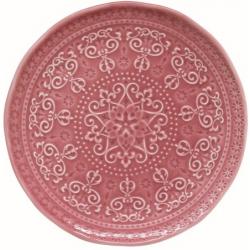 Porcelán desszert tányér 19cm, Abitare Chic - Sötét Rózsaszín