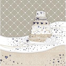 Papírszalvéta 20db-os, 33x33cm, Sweet Cake - Cream