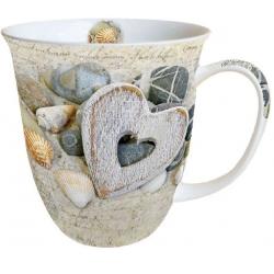 Porcelán bögre, 400ml, Hearts and Stones