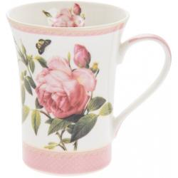 Porcelán bögre dobozban, Rózsás