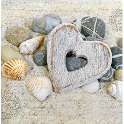 Papírszalvéta 20db-os, 33x33cm, Hearts and Stones