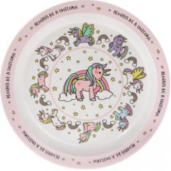 Műanyag tányér 22cm, Unikornis