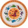 Műanyag tányér 22cm, Dinoszaurusz