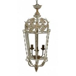 Mennyezeti lámpa, Fém Üveg 40X36X85cm, Régies